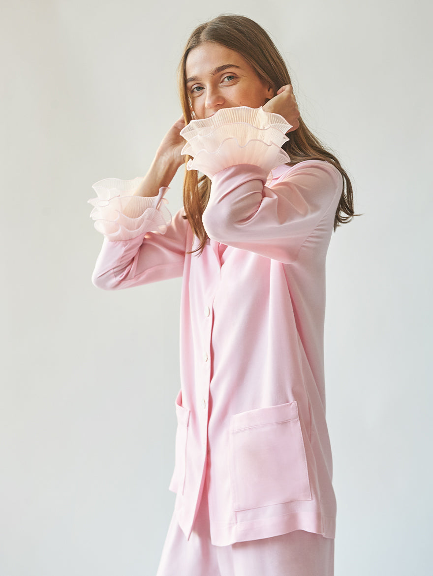 Pierrot Party Pyjama Set in Pink