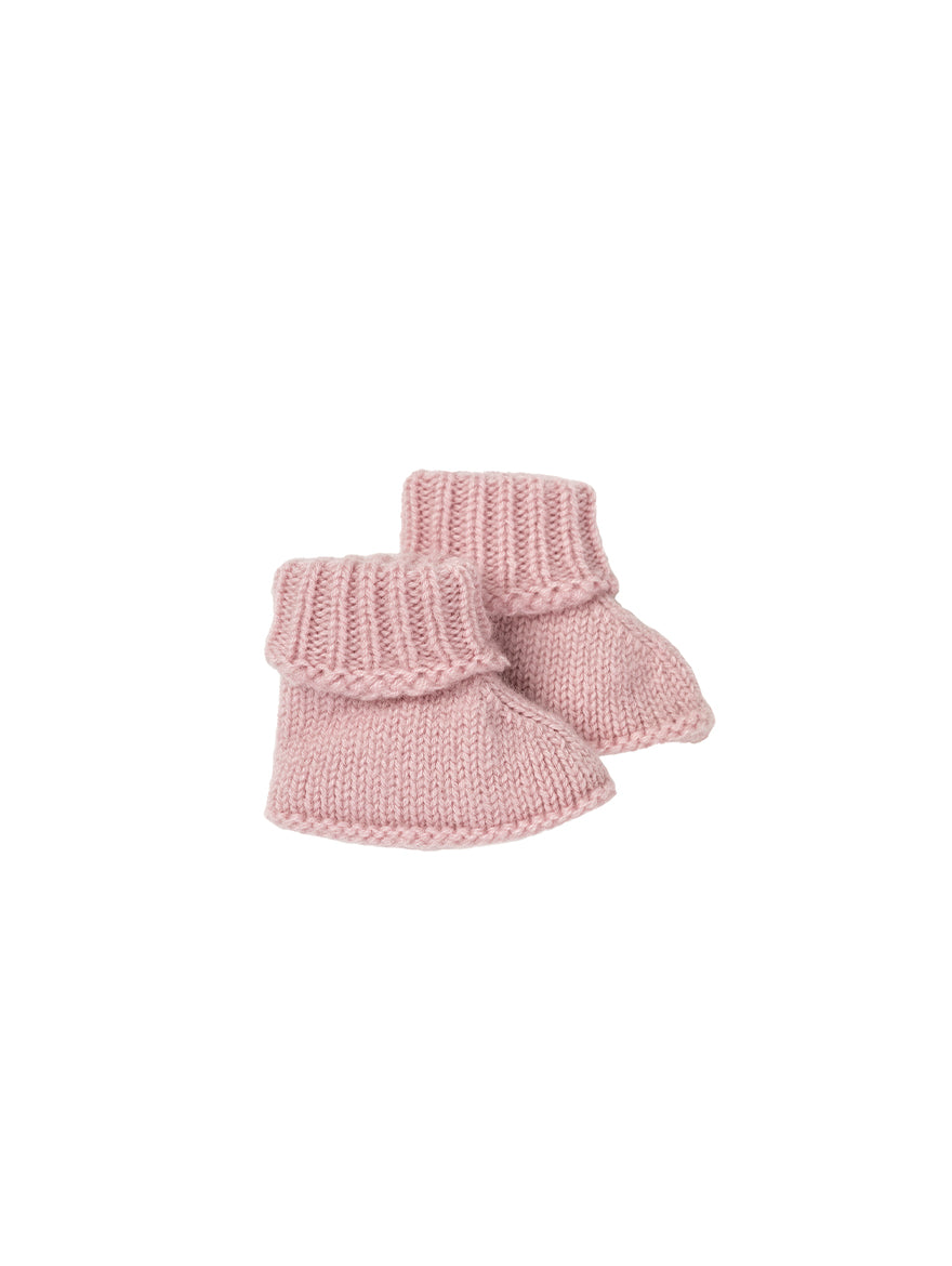 Cashmere Baby Bootees in Pink