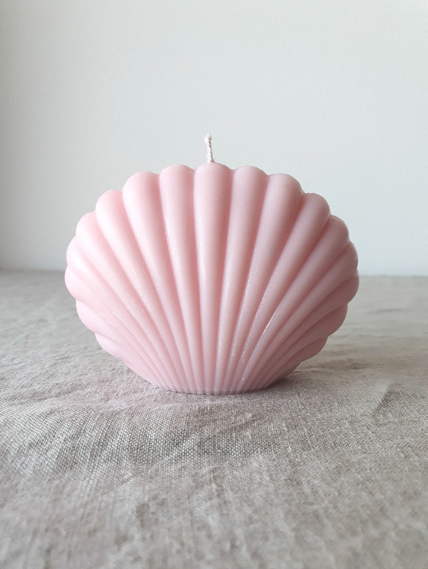 Rose Pink Shell Candle