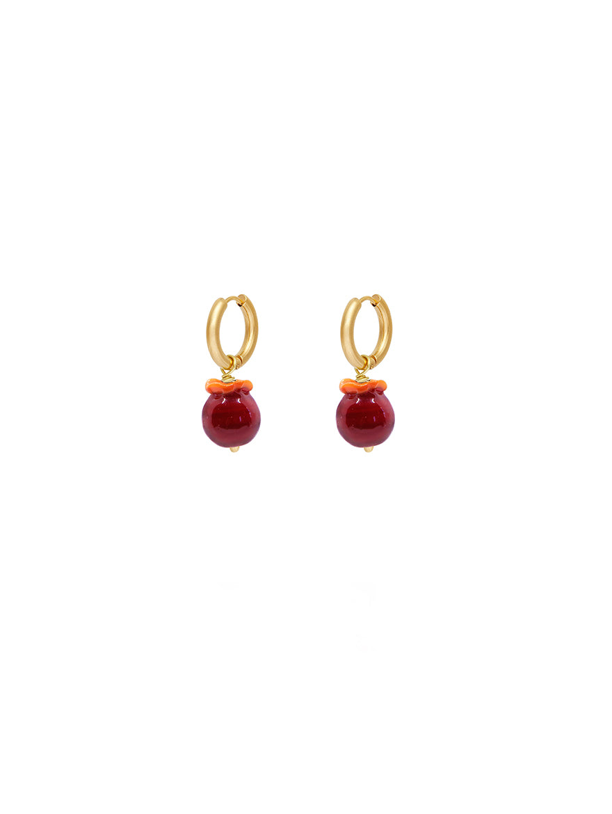Mini Pomegranate Earrings