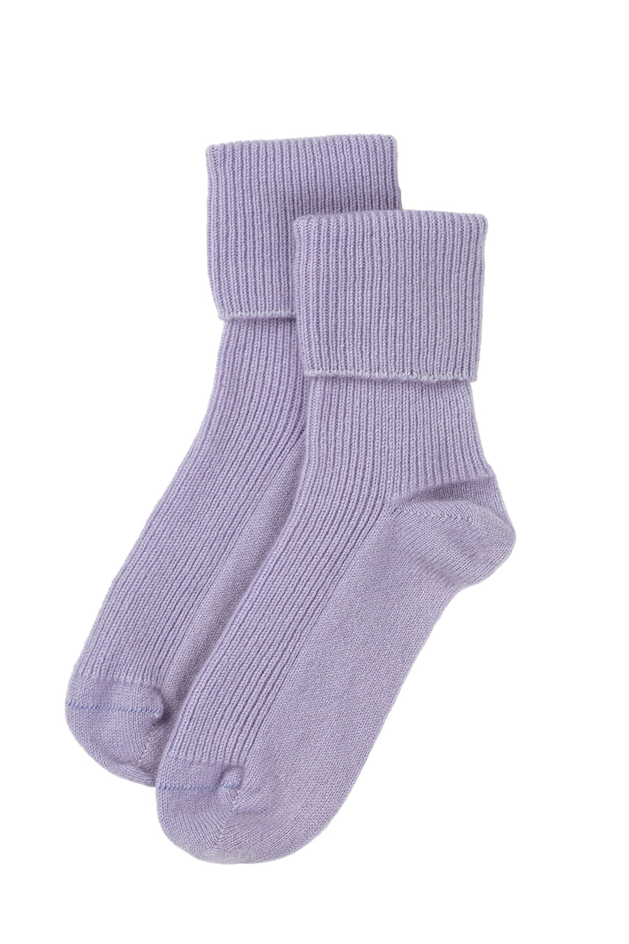 Cashmere bed-socks, Lilac