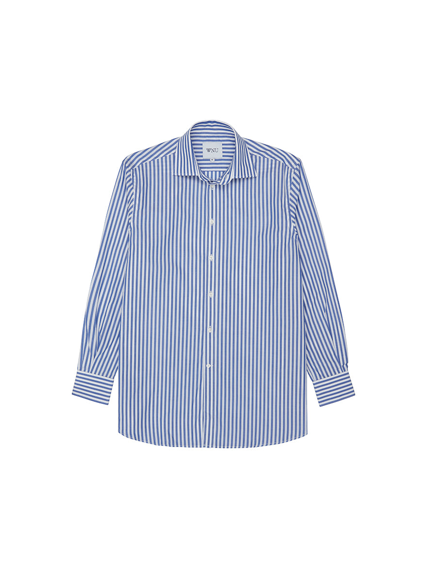 Blue & White Stripe Boyfriend Shirt