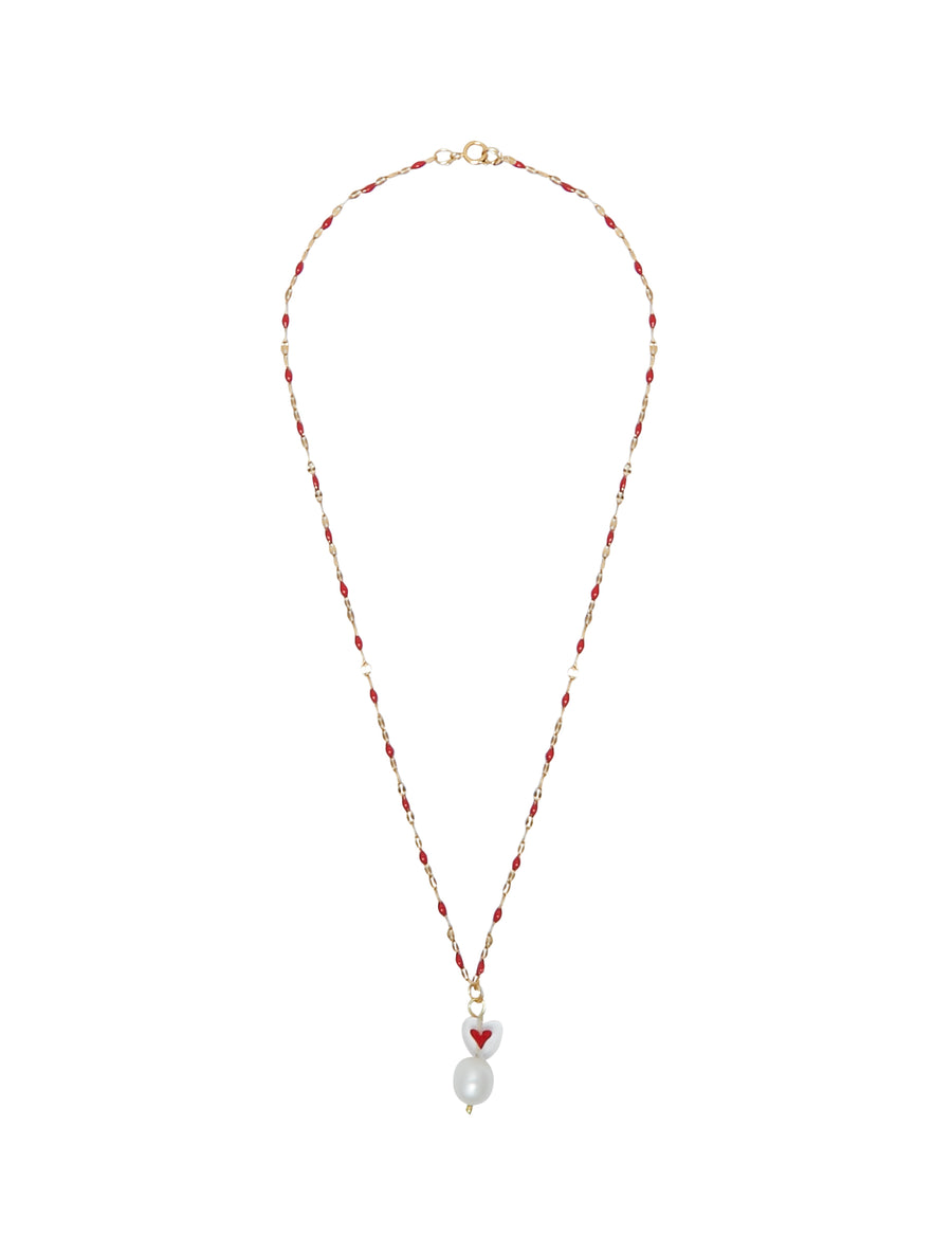 Top-Less Red Heart Necklace