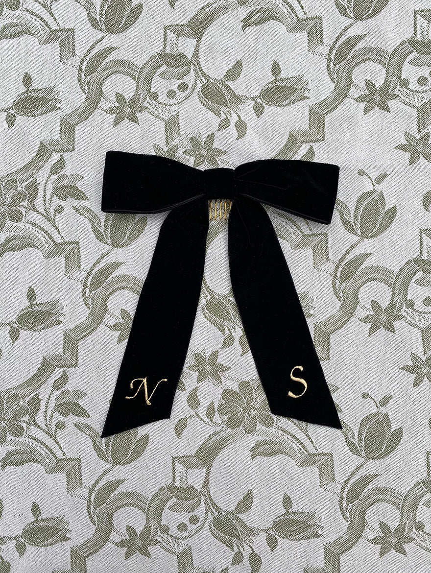 Black Velvet Hair Ribbon
