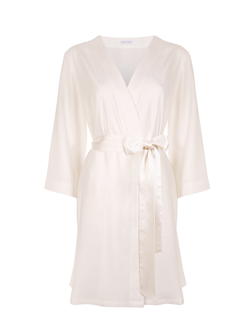 Classic White Dressing Gown