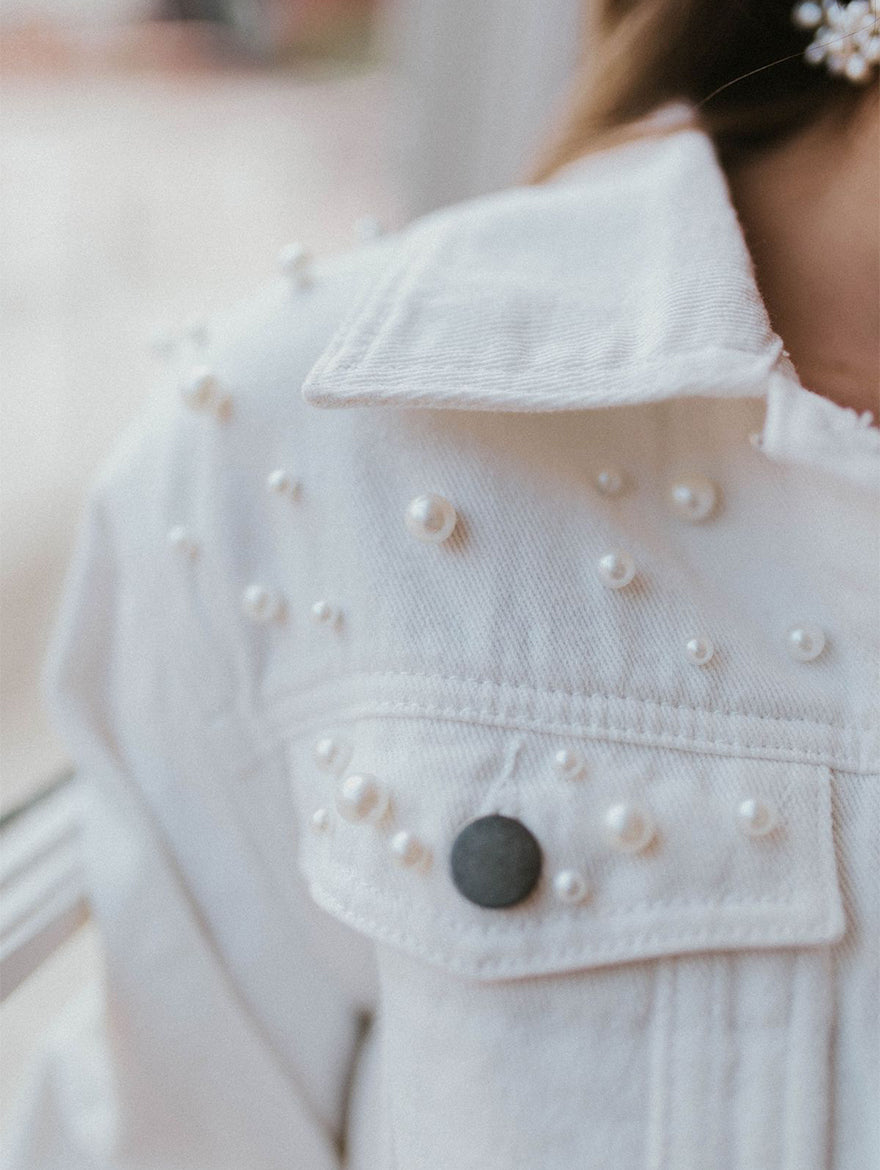 White Denim Mrs Jacket