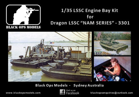 "Black Ops 1/35 LSSC Engine Bay  Conversion Kit  for Dragon LSSC  ""NAM SERIES"" - 3301"