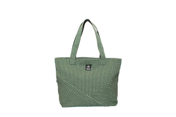 Handmade Tote Bag | Green Colored 100% Pure Organic Cotton Tote Bag | Yala Garden