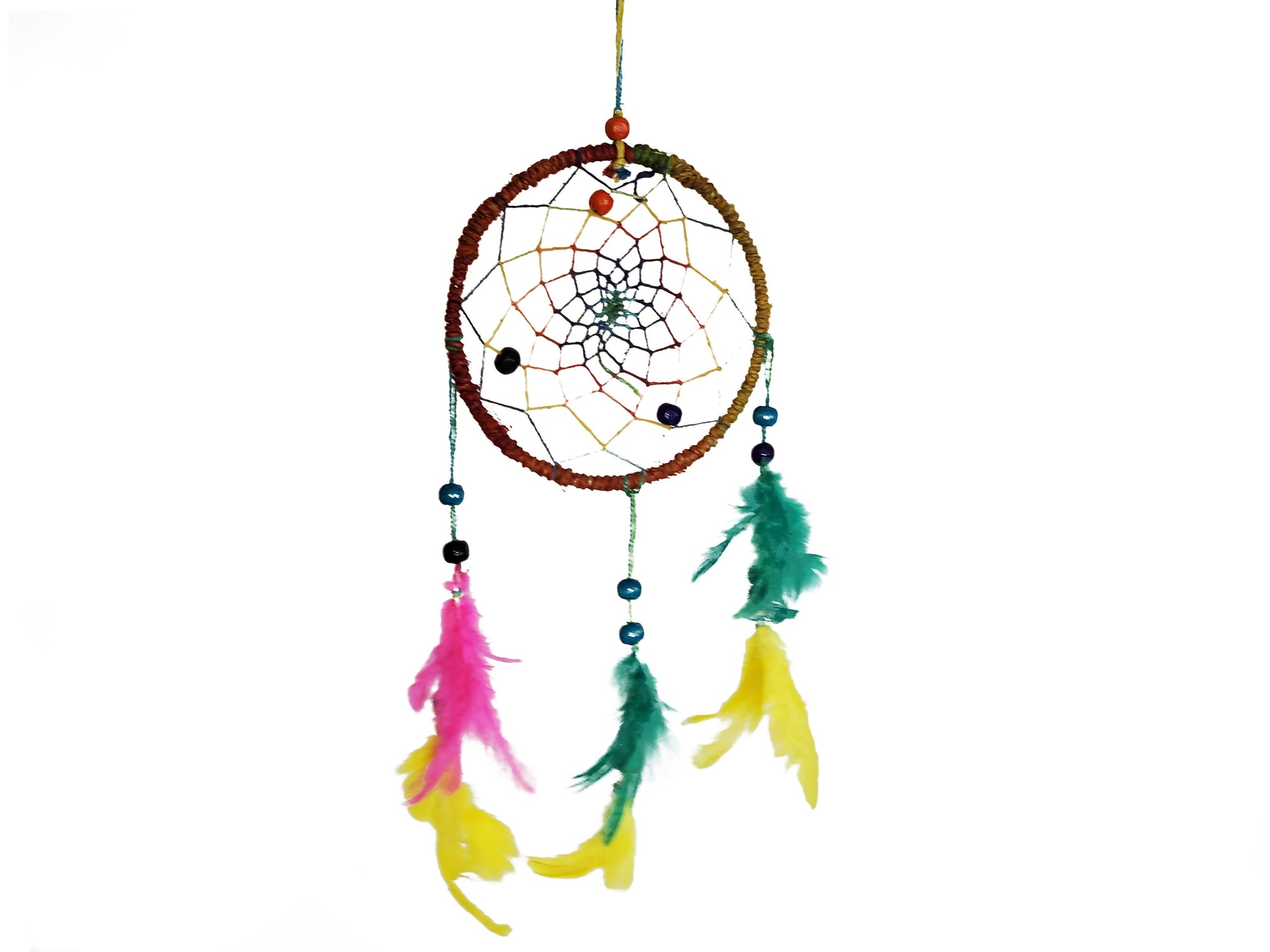 Colorful Dream Catcher | Handmade Dream Catcher | Pink, Yellow & Green - yala garden