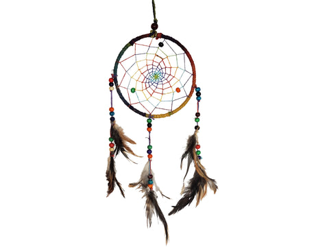 Colorful Feather Dream Catcher | Handmade Dream Catcher - yala garden