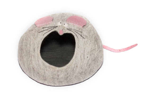 Handmade Felted Wool Cat House - Yala Garden