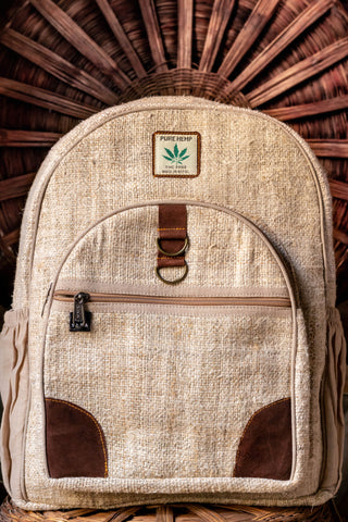 Handmade Hemp Backpack - yala-garden -
