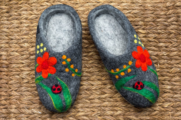 Lady Bug Slippers - yala-garden -