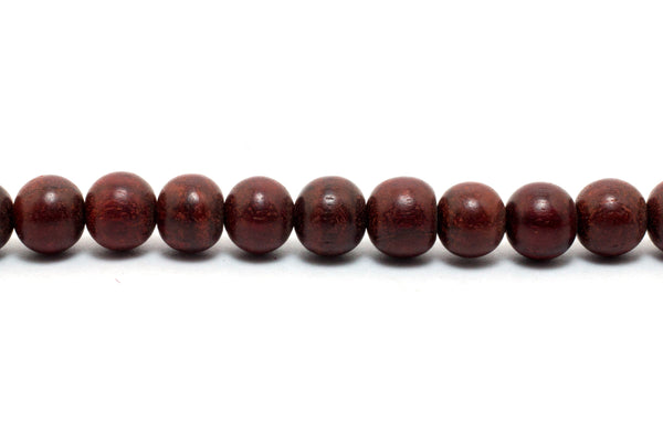 Red Sandalwood Mala Necklace - With Pure Red Sandalwood Bead - Handmade Necklace