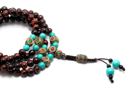 Red Tiger Eye Necklace | With 100% Pure Tiger Eye Beads | Handmade Necklace - yala garden