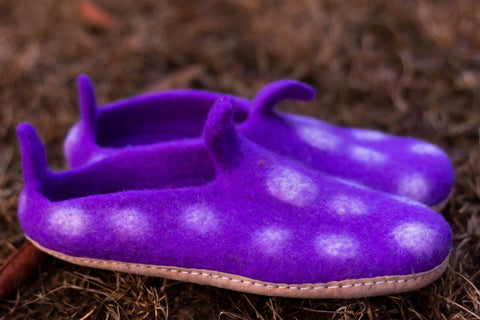 Solid Dotted Slippers - yala-garden -