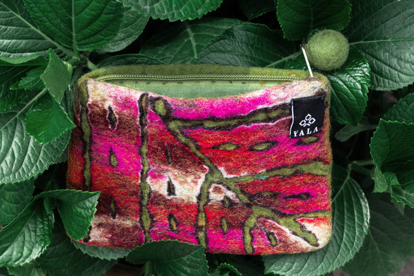 Splattered Maple Leaf Purse - yala-garden -
