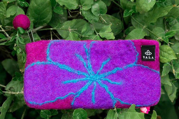 Violet Scribbled Purse - yala-garden -