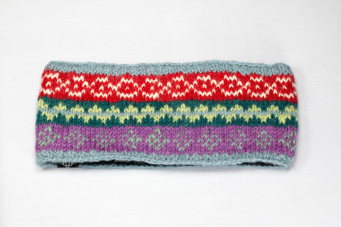 Woolen Headband | Handmade | Red, Green & Purple Headband