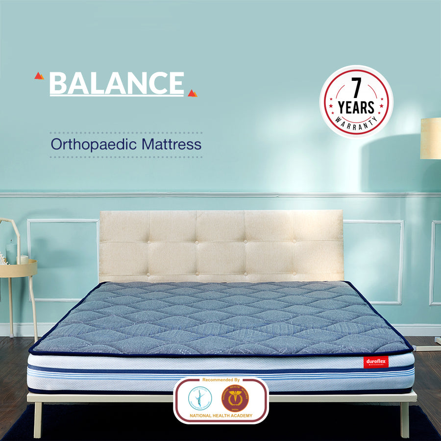 Duroflex Balance - 5 Zoned Orthopedic Memory Foam Mattress with Heat Absorption Technology | Certified by National Health Academy