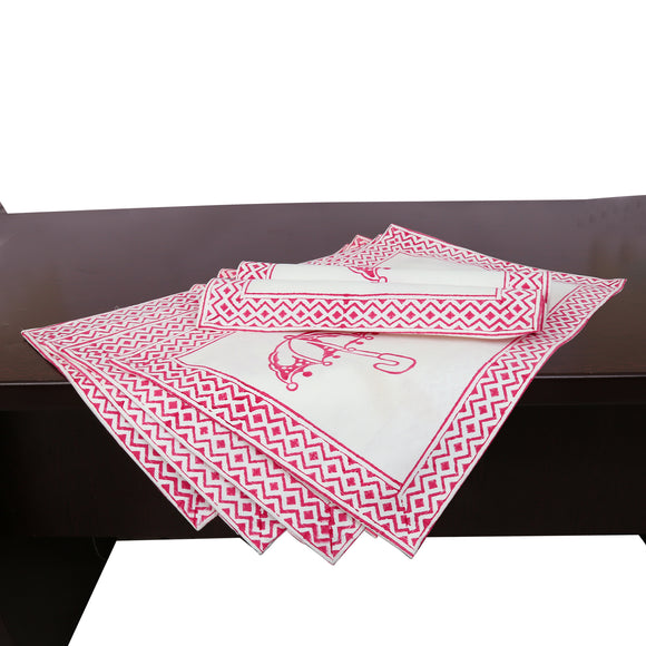 6 Pack Placemats in Handblock print Canvas
