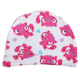 Kitty Print Newborn Baby Cotton Jersey Caps