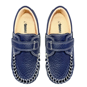 Boys Blue Leather Moccasin