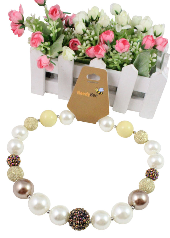 Bronze & Gold Crystal Resin Bead Designer jewelry for Girls