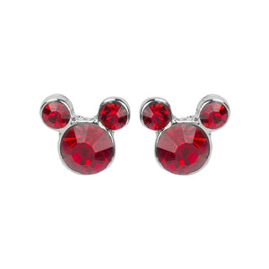 Mickey Mouse Disney Inspired Earrings In Crystal