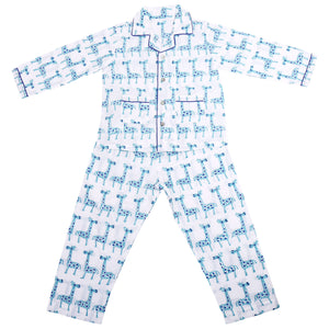 Collared English Nightsuit Set