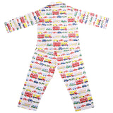 Collared English Nightsuit  Set in Cars Print