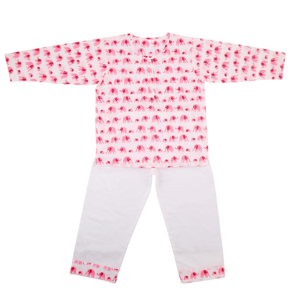 Elephant print Cotton PJ Nightsuit Set