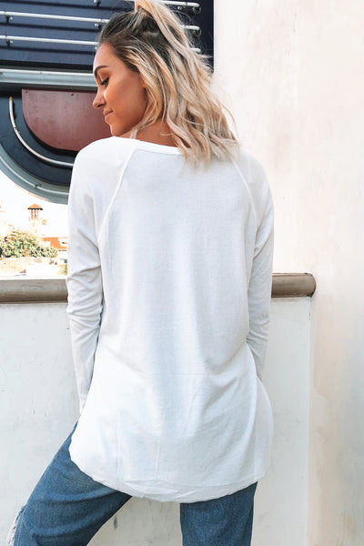 TERRA RIBBED L/S (WHITE)