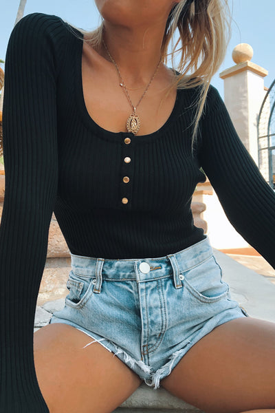 TOWN RIBBED L/S BODYSUIT