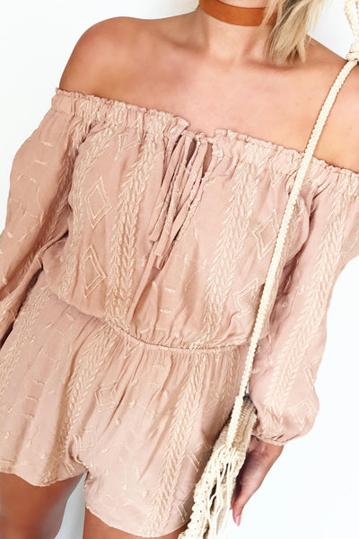 CRUSH EMBROIDERED ROMPER