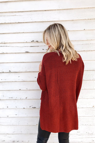 FALLING LEAVES KNIT (WINE)