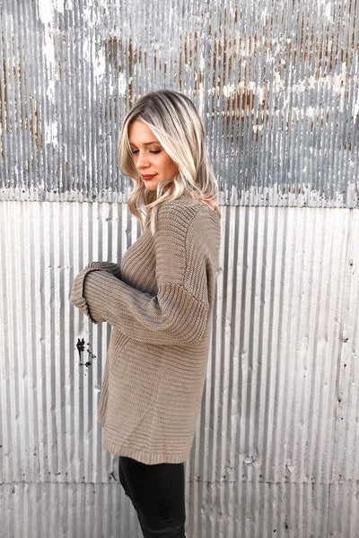 LOGGIA RIBBED SWEATER