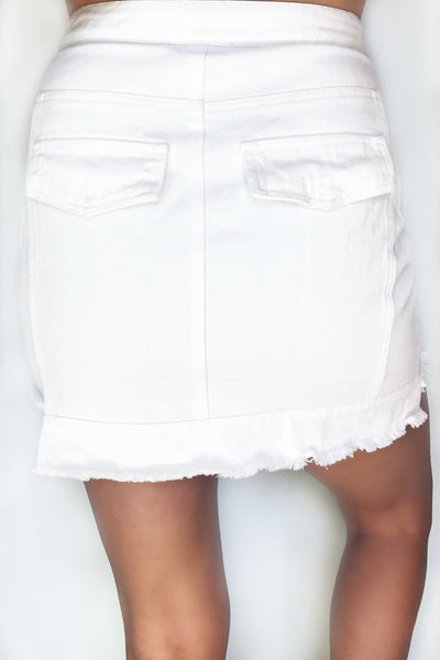 JAGGER DENIM MINI (WHITE)