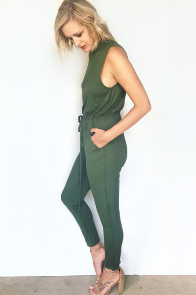 JETS AWAY JUMPSUIT (OLIVE)