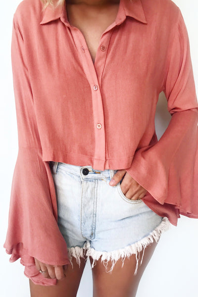 KAY BELL SLEEVE CROP