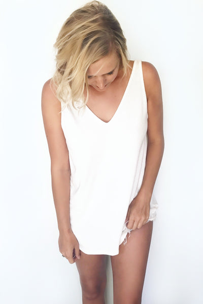 KNOTTED OPEN BACK TANK