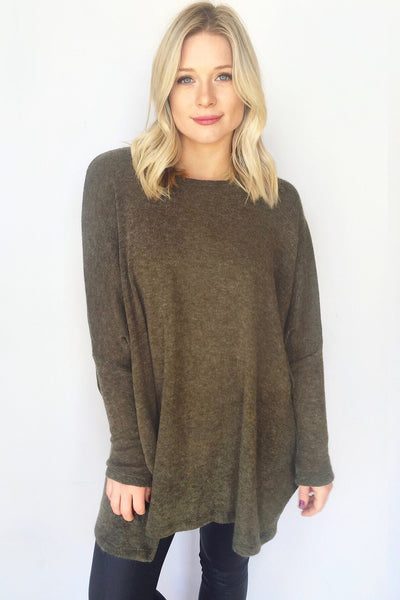 MALBEC TUNIC SWEATER (OLIVE)
