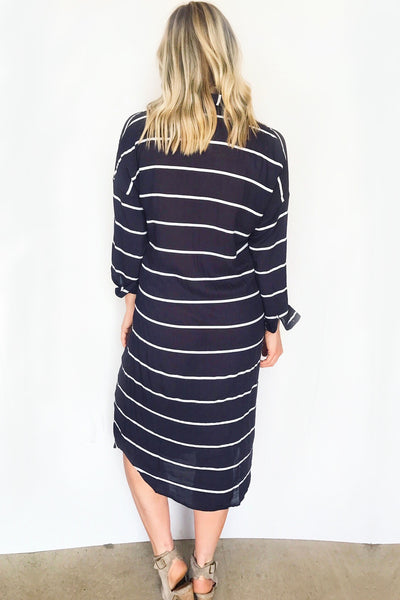 OXFORD STRIPED MIDI