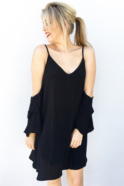 PARIS RUFFLE MINI (BLACK)