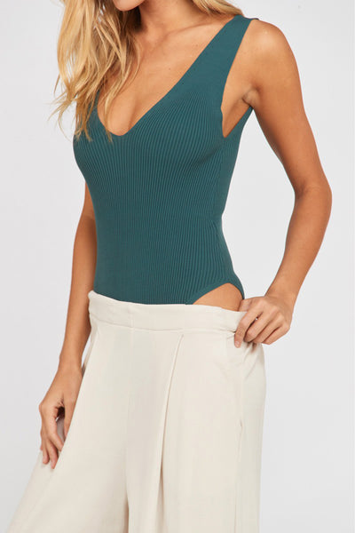 ARDON RIBBED BODYSUIT (TEAL)