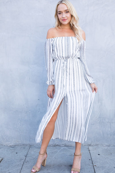 LAUREL OFF-SHOULDER MIDI