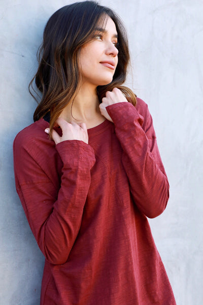 HAILEE BASIC L/S (WINE)