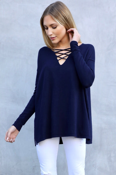 HIGHLAND CROSS SWEATER (NAVY)