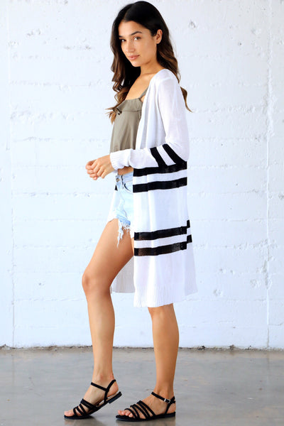 RAE STRIPED CARDIGAN
