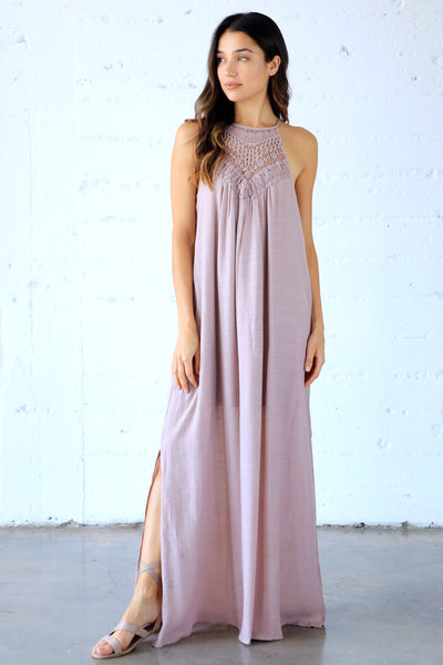 I LIKE TO MAUVE IT CROCHET MAXI